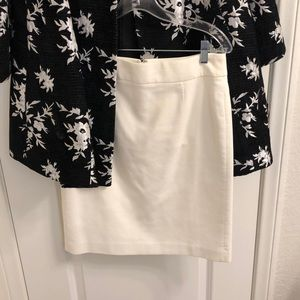 J. Crew White Mini Skirt